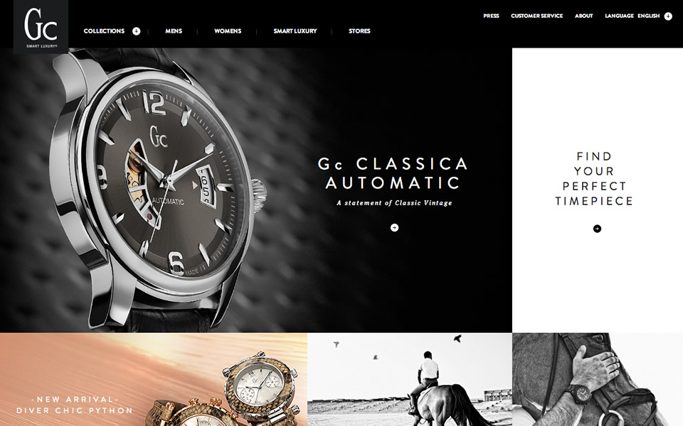 gc watches html inspiration html css web design inspiration gc watches