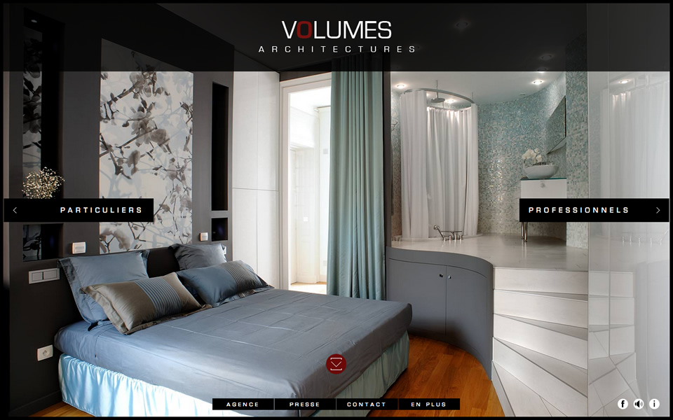 Volumes Architectures- html inspiration | HTML/CSS Web ...